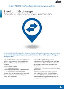 Bluelight iExchange Fact Sheet - AddressBase Data Exports