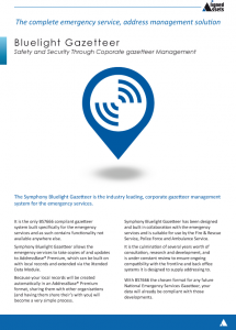 Bluelight Fact Sheet - AddressBase Premium Management