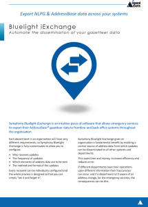 Bluelight iExchange Fact Sheet - AddressBase Data Exports