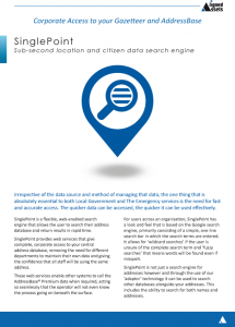 SinglePoint Fact Sheet - Address search software