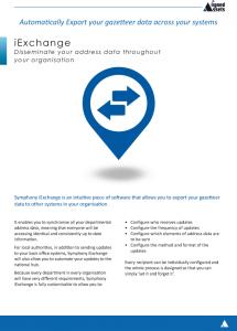 iExchange Fact Sheet - LLPG Data Exports