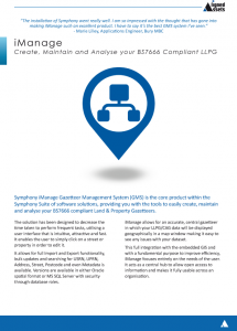 iManage Fact Sheet - LLPG Management