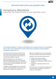 Blackbox Fact Sheet - Address Data Exports
