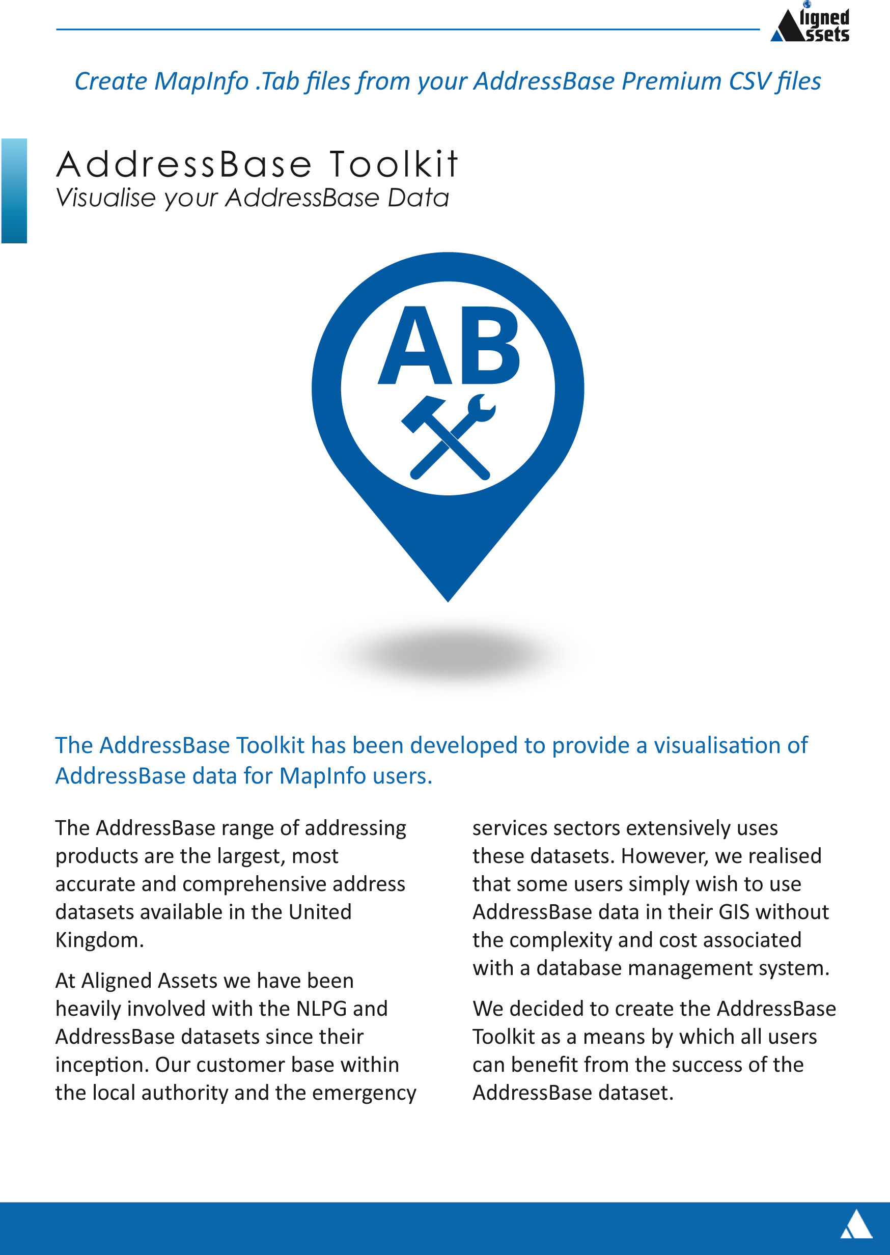 AddressBase Toolkit Front Cover