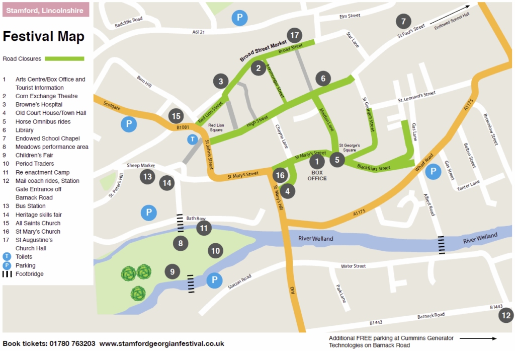 Stamford Georgian Festival Event map