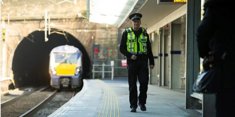 BTP policement on rail platform