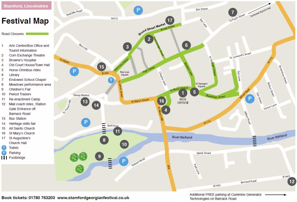 Stamford Georgian Festival Event map